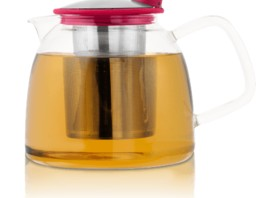 BELL GLASS TEAPOT WITH BASKET INFUSER